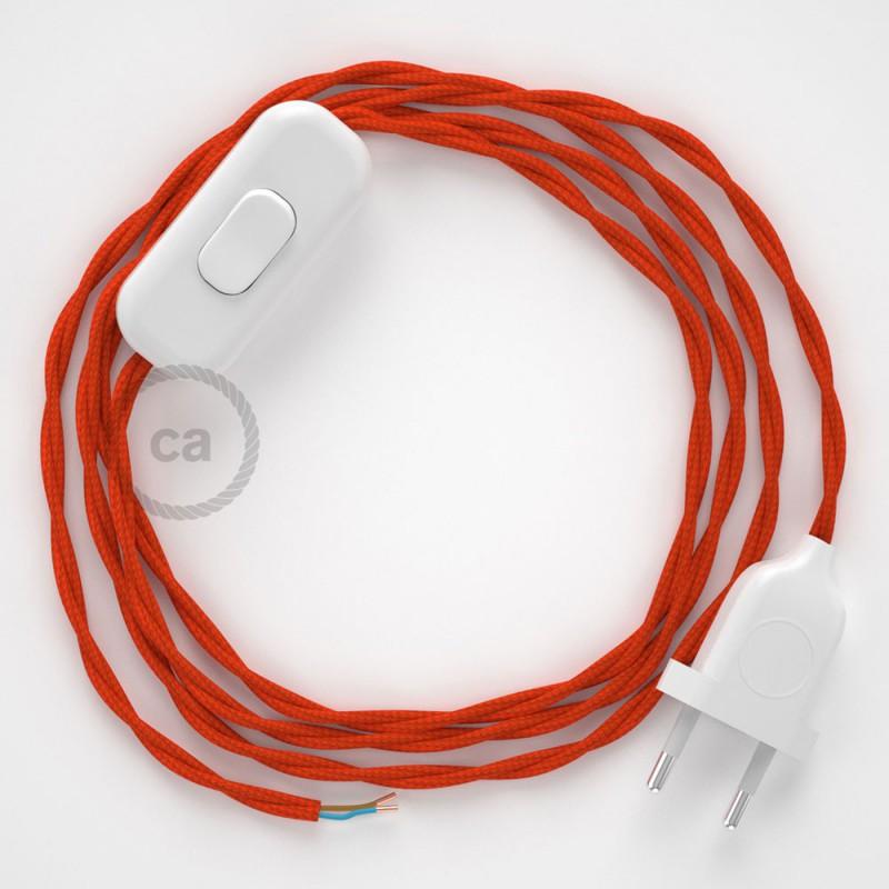 Ledningssæt, TM15 Orange Viskose 1,80 m. Vælg farve på kontakt og stik.