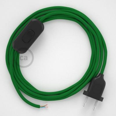 Ledningssæt, RM06 Grøn Viskose 1,80 m. Vælg farve på kontakt og stik.
