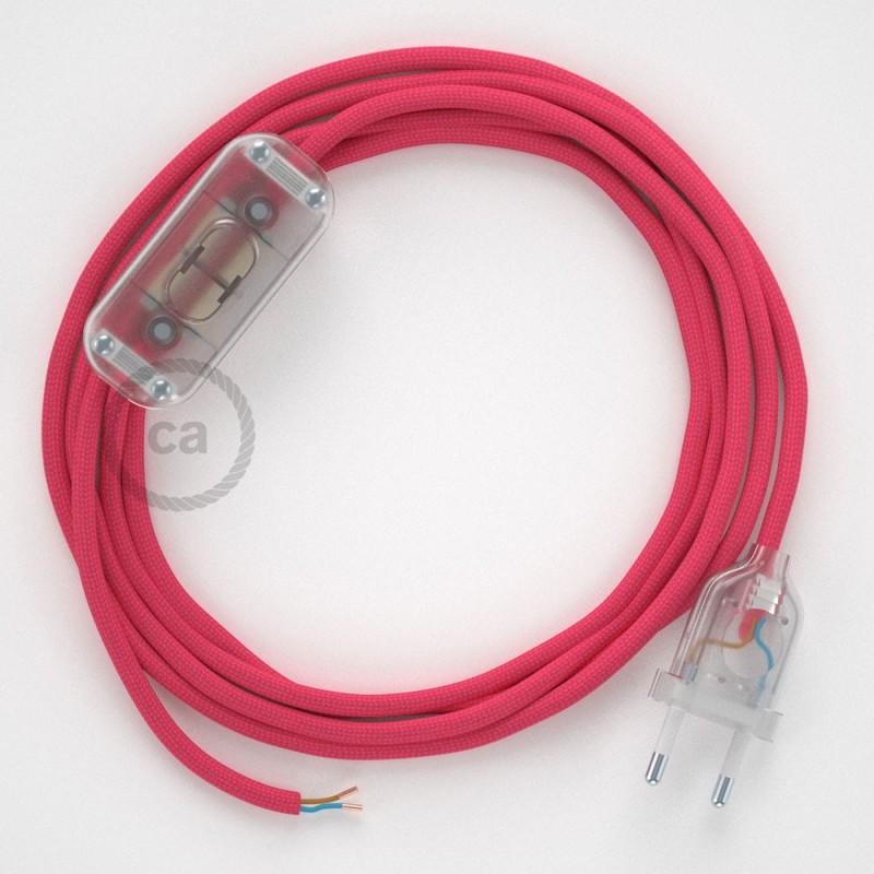 Ledningssæt, RM08 Fuchsia Viskose 1,80 m. Vælg farve på kontakt og stik.