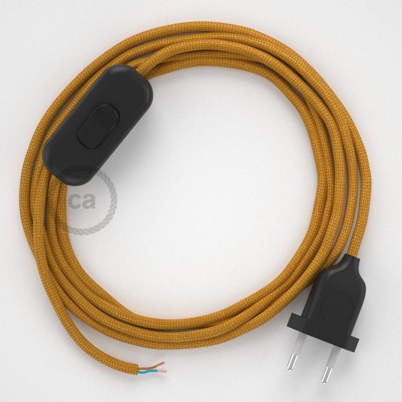 Ledningssæt, RM05 Guld Viskose 1,80 m. Vælg farve på kontakt og stik.