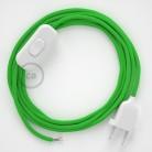 Ledningssæt, RM18 Lime Grøn Viskose 1,80 m. Vælg farve på kontakt og stik.