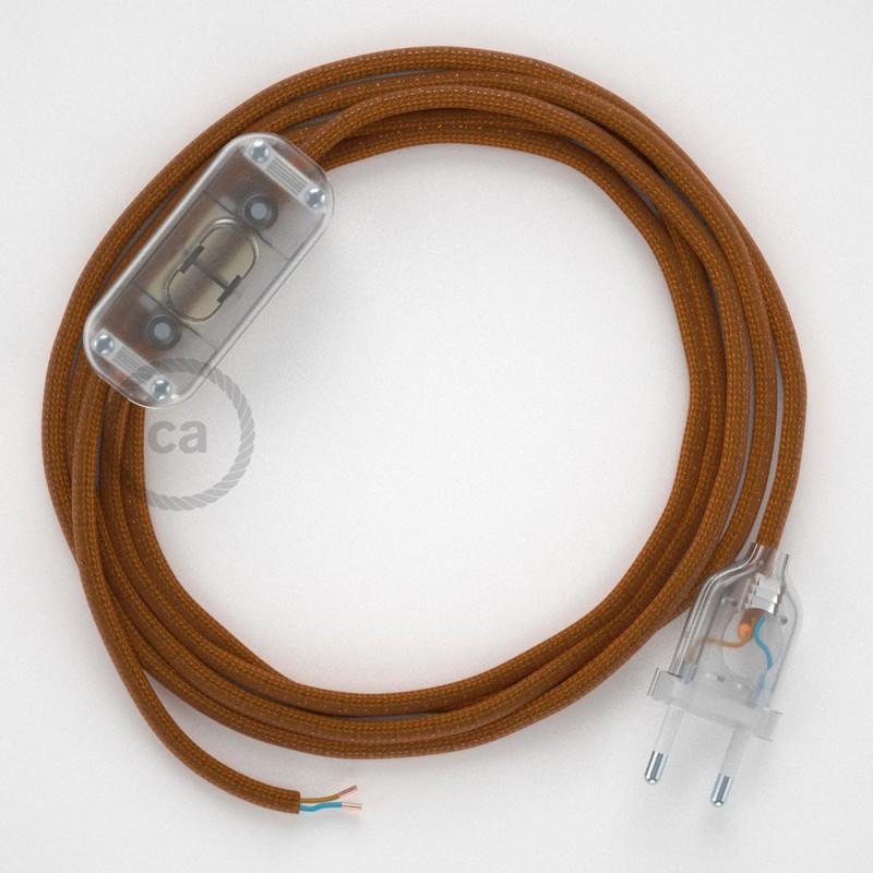 Ledningssæt, RM22 Whisky Viskose 1,80 m. Vælg farve på kontakt og stik.