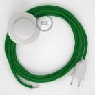 Ledningssæt med fodkontakt, RM06 Grøn viskose 3 m. Vælg farve på kontakt og stik.
