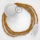 Ledningssæt med fodkontakt, TM05 Guld viskose 3 m. Vælg farve på kontakt og stik.