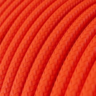 LAN Ethernet-kabel Cat 5e med RJ45 stik - Viskosestof RF15 Neon Orange