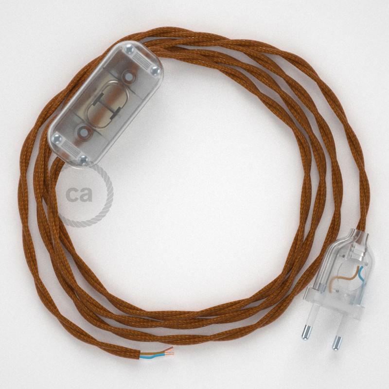 Ledningssæt, TM22 Whisky Viskose 1,80 m. Vælg farve på kontakt og stik.