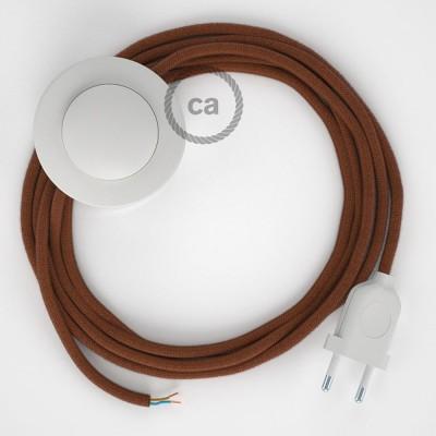 Ledningssæt med fodkontakt, RC23 Hjort bomuld 3 m. Vælg farve på kontakt og stik.