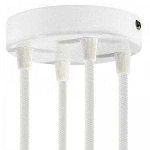 Cylindrical metal 4-hole ceiling rose kit