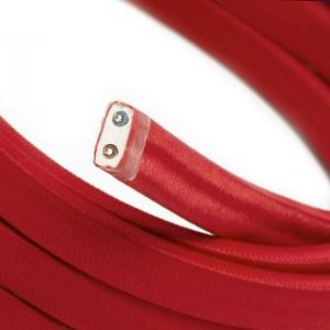 Ledning til Lyskæder, beklædt med Viskosestof Rød CM09