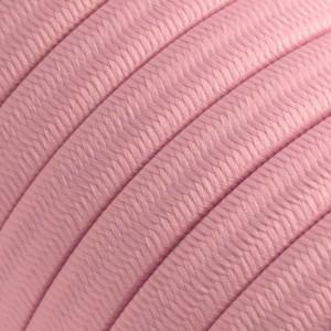 Ledning til Lyskæder, beklædt med Viskosestof Baby Pink CM16