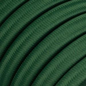 Ledning til Lyskæder, beklædt med Viskosestof Mørkegrøn CM21