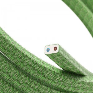 Electric cable for String Lights, covered by Cotton fabric Pixel Bronte CX08