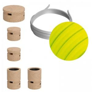 Filé System Wiggle kit - med 3m kabel til lyskæde og 5 indendørs trækomponenter