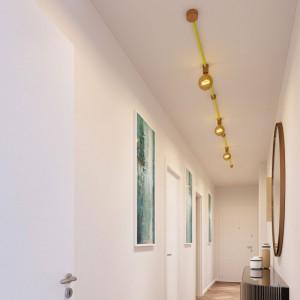 Filé System Linear Kit - med 5 m kabel til lyskæde og 7 indendørs trækomponenter