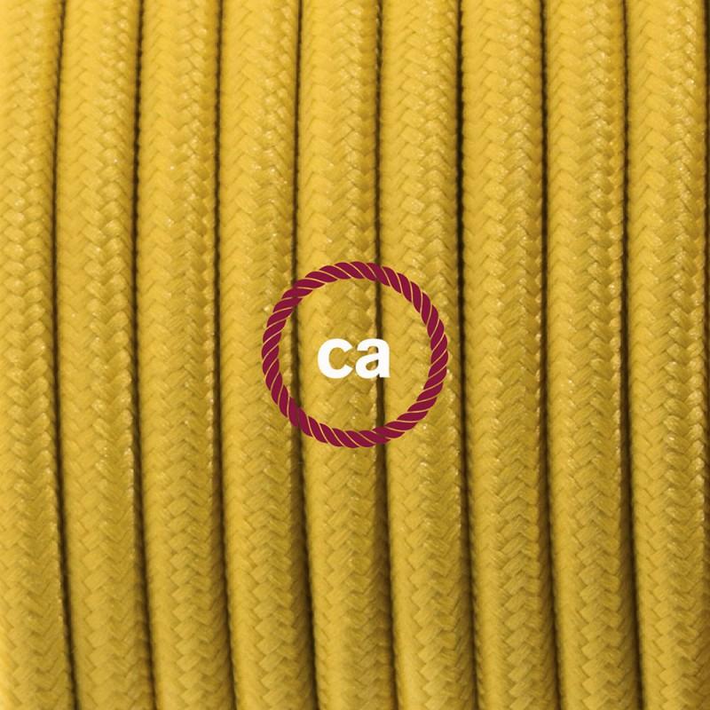 Ledningssæt, RM25 Sennep Viskose 1,80 m. Vælg farve på kontakt og stik.
