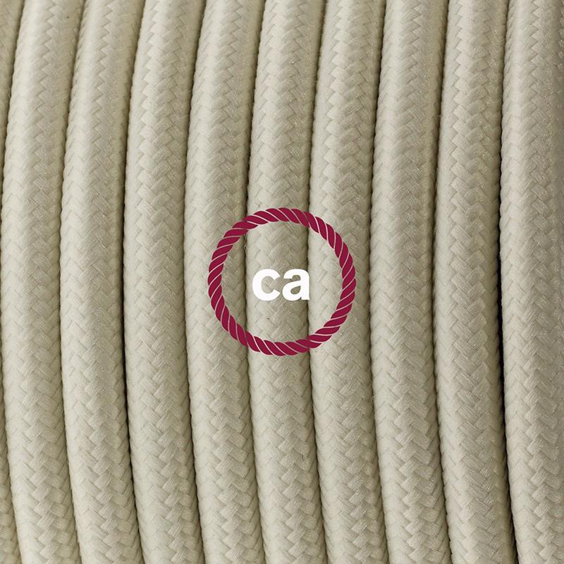 Ledningssæt, RM00 Elfenben Viskose 1,80 m. Vælg farve på kontakt og stik.