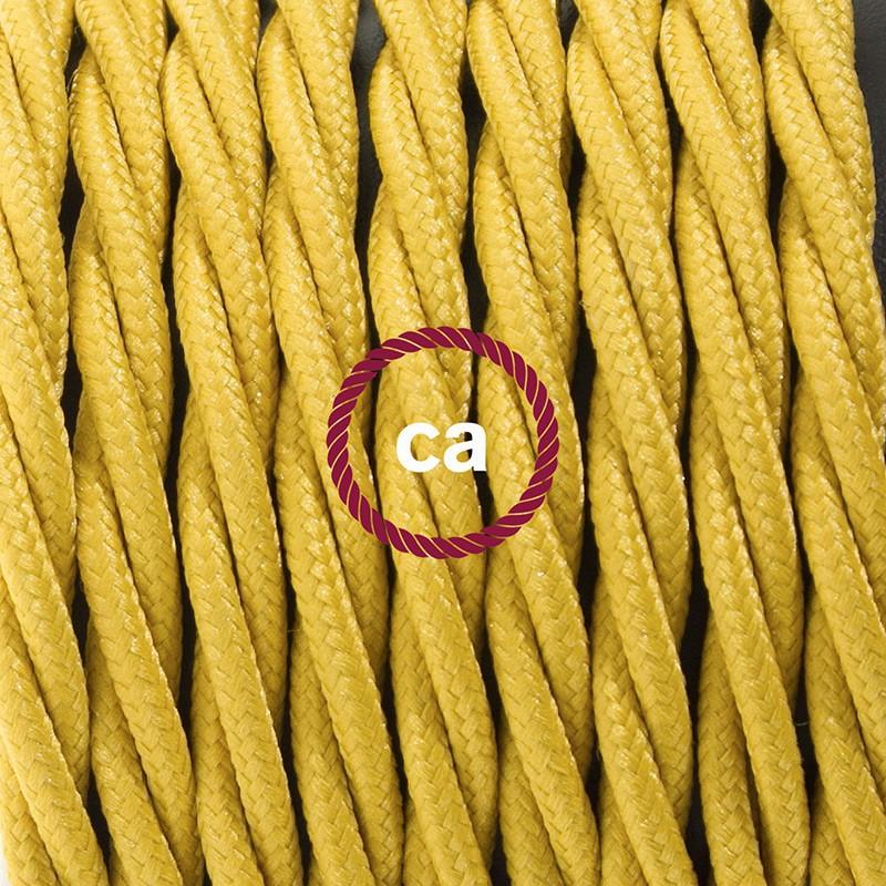 Ledningssæt med fodkontakt, TM25 Sennep viskose 3 m. Vælg farve på kontakt og stik.