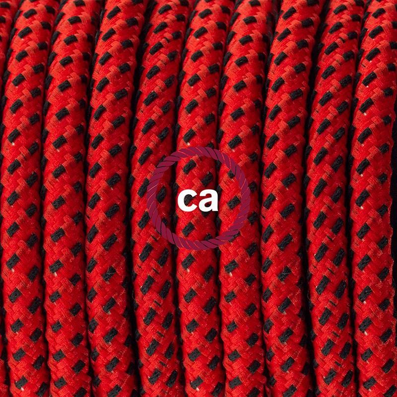 Ledningssæt med fodkontakt, RT94 Red Devil viskose 3 m. Vælg farve på kontakt og stik.
