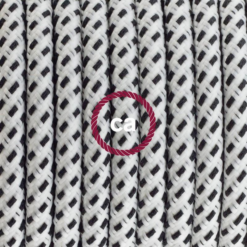 Ledningssæt med fodkontakt, RT14 Stracciatella viskose 3 m. Vælg farve på kontakt og stik.