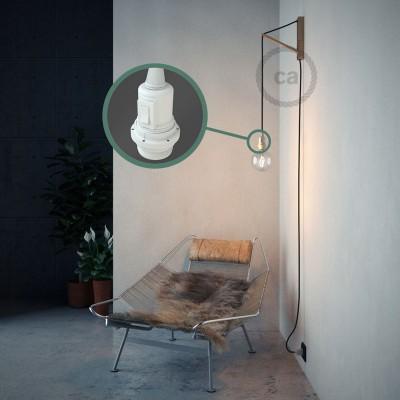 Lav din egen RC04 Sort Bomuld Snake til lampeskærm og bring lyset hen, lige hvor du vil have det.