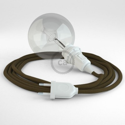 Lav din egen RC13 Brun Bomuld Snake til lampeskærm og bring lyset hen, lige hvor du vil have det.