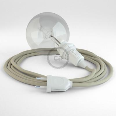 Lav din egen RC43 Due Bomuld Snake til lampeskærm og bring lyset hen, lige hvor du vil have det.