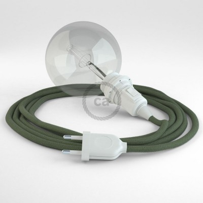 Lav din egen RC63 Grågrøn Bomuld Snake til lampeskærm og bring lyset hen, lige hvor du vil have det.