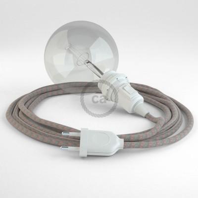 Lav din egen RD51 Striber Gammelrosa Snake til lampeskærm og bring lyset hen, lige hvor du vil have det.