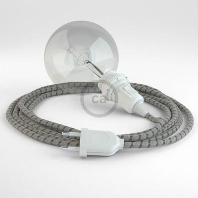 Lav din egen RD53 Striber Bark Snake til lampeskærm og bring lyset hen, lige hvor du vil have det.