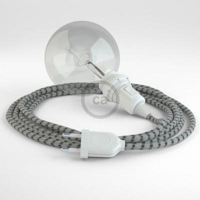 Lav din egen RD54 Striber Antracit Snake til lampeskærm og bring lyset hen, lige hvor du vil have det.