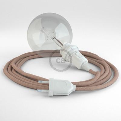 Lav din egen RD71 ZigZag Gammelrosa Snake til lampeskærm og bring lyset hen, lige hvor du vil have det.
