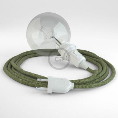 Lav din egen RD72 ZigZag Timiangrøn Snake til lampeskærm og bring lyset hen, lige hvor du vil have det.