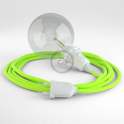 Lav din egen RF10 Gul Fluo Snake til lampeskærm og bring lyset hen, lige hvor du vil have det.