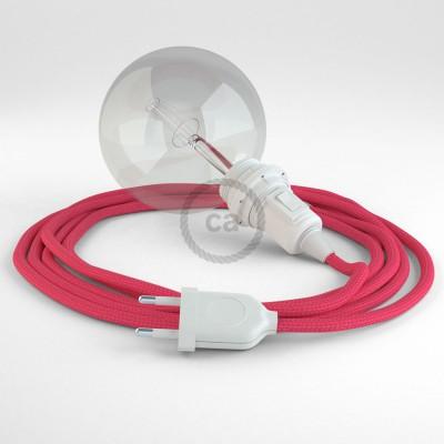 Lav din egen RM08 Fuchsia Viskose Snake til lampeskærm og bring lyset hen, lige hvor du vil have det.