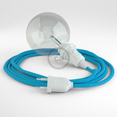 Lav din egen RM11 Tyrkis Viskose Snake til lampeskærm og bring lyset hen, lige hvor du vil have det.