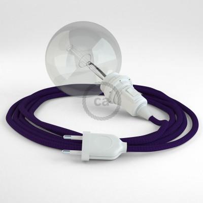 Lav din egen RM14 Violet Viskose Snake til lampeskærm og bring lyset hen, lige hvor du vil have det.