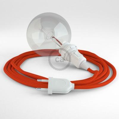 Lav din egen RM15 Orange Viskose Snake til lampeskærm og bring lyset hen, lige hvor du vil have det.