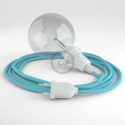 Lav din egen RM17 Baby Azur Viskose Snake til lampeskærm og bring lyset hen, lige hvor du vil have det.