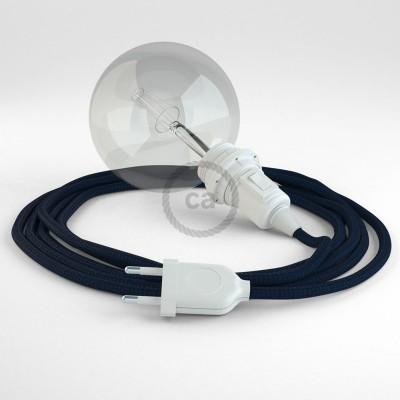 Lav din egen RM20 Mørkeblå Viskose Snake til lampeskærm og bring lyset hen, lige hvor du vil have det.