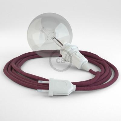 Lav din egen RC32 Bordeaux Bomuld Snake til lampeskærm og bring lyset hen, lige hvor du vil have det.