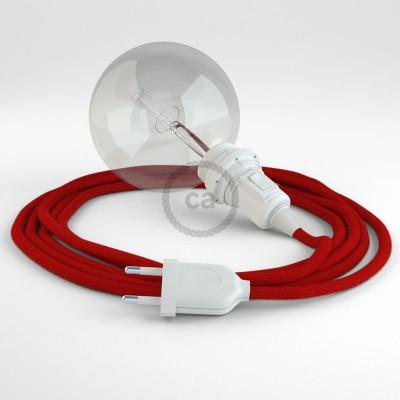 Lav din egen RC35 Ildrød Bomuld Snake til lampeskærm og bring lyset hen, lige hvor du vil have det.